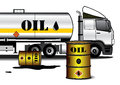 Tank Truck With Barrels Stock Photo - 78183900