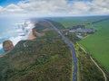 Aerial View Of The Twelve Apostles And Visitor Centre On The Gre Royalty Free Stock Images - 78186919