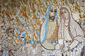 Colorful Mosaic In The Patio Of Polloc Church Royalty Free Stock Images - 78196699