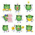 Kids Education. Monster Character With Book Vector Illustration Royalty Free Stock Photo - 78197745
