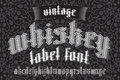 Whiskey Label Font And Sample Design With Decoration  Ribbon Royalty Free Stock Image - 78198266