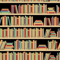 Seamless Books, Seamless Pattern With Books, Library Bookshelf, Library, Bookstore, Books On A Shelves In Library, Flat Books, Stock Image - 78199701