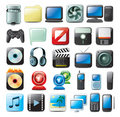 Multimedia Icons Stock Images - 7825164