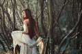 Beautiful Red Hair Woman In The Woods Royalty Free Stock Photos - 78200028