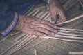 Weave Pattern Hand Bamboo Royalty Free Stock Image - 78203636