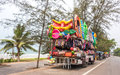 MAE PHIM, THAILAND - MARCH 22, 2015: Bus Mobile Shop Selling Toy Stock Images - 78205374
