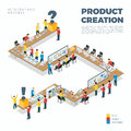 Flat Isometric Product Creation Process Vector 3d Stock Photography - 78218912