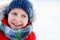 Cute Boy Outdoors On Winter Royalty Free Stock Images - 78226739