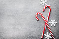 Candy Cane. Christmas Decors With Gray Background. Stock Photos - 78228133