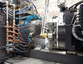Injection Molding Machines In A Large Factory Royalty Free Stock Photography - 78235737