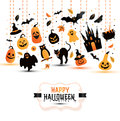 Halloween Banner On White Background. Invitation To Night Party Stock Photo - 78252000