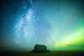 Milky Way And Northern Lights Stock Photo - 78261440