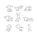 Set Of Funny Cartoon Dogs. Royalty Free Stock Photography - 78263067