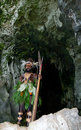 Warriors Tribe Yaffi In War Paint With Bows And Arrows In The Cave. New Guinea Island Stock Image - 78263271