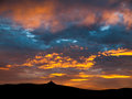 Dramatic Sunset Sky With Illuminated Clouds Royalty Free Stock Photography - 78264197