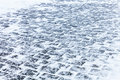 Cobblestone Pavement Covered With Snow And Ice Stock Images - 78277584