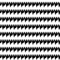 Seamless Horizontal Sharp Edges Lines Pattern. Repeated Black Jagged Stripes On White Background. Zigzag Motif. Stock Image - 78277771