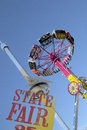 Thrill Rides And Top Of Texas Tower At Fair Park Royalty Free Stock Photos - 78285148