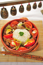 Chinese Food Cup Of Rice With Pork Tomato Stock Photography - 7834512