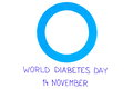 Blue Circle Of Paper On White Background, Symbol Of World Diabetes Day Royalty Free Stock Images - 78300669