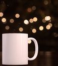 Christmas Styled Mockup Mug, Blank White Coffee Mug Royalty Free Stock Photo - 78310205