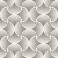 Vector Seamless Black And White Arc Shape Stipple Halftone Pattern Stock Photo - 78322160