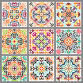 Square Decorative Tiles Set Stock Photos - 78322823
