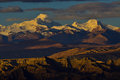 Zagreb To Tibet The Morning Sun Snow Mountain Royalty Free Stock Images - 78326149