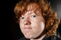 Emotive Portrait Of Red-haired Freckled Boy, Childhood Concept Royalty Free Stock Image - 78329506