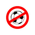 Stop Football. Prohibited Team Game. Red Prohibition Sign. Cross Stock Image - 78333911