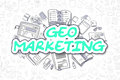 Geo Marketing - Cartoon Green Text. Business Concept. Stock Photography - 78362752