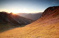 Autunm Sunrise Over Mountains In Alps Stock Photo - 78374320