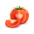Big Ripe Red Fresh Cut Tomato  On White Background Royalty Free Stock Photos - 78374958