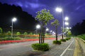 The Energy Saving Streetlights Made By LED Royalty Free Stock Images - 78374999