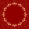 Repeating Circle Gingerbread Cookies Pattern On The Red Background With Stars Silhouette Royalty Free Stock Photos - 78376488