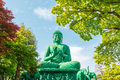 The Great Buddha Of Nagoya With Tranquil Place In Forest. Stock Photo - 78378150