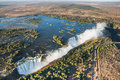 View Of The Falls From A Height Of Bird Flight. Victoria Falls. Mosi-oa-Tunya National Park.Zambiya. And World Heritage Site. Zimb Stock Images - 78386624