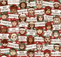 Merry Christmas Signs In Different Languages - Color Version Stock Image - 78387291