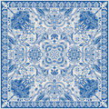 Design For Square Pocket, Shawl, Textile. Paisley Floral Pattern Stock Images - 78403434
