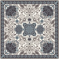 Design For Square Pocket, Shawl, Textile. Paisley Floral Pattern Royalty Free Stock Image - 78403546