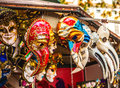 Venetian Masks In Store Display In Venice. Annual Carnival In Venice Is Among The Most Famous In Europe Royalty Free Stock Image - 78445176