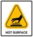 Do Not Touch Hot Surface Danger Signs Illustration Vector Royalty Free Stock Photo - 78480865