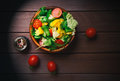 Fresh Vegetable Salad In A Bowl Royalty Free Stock Image - 78502876