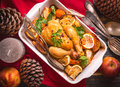 Christmas Chicken Royalty Free Stock Image - 78521426