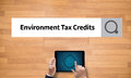 Environment Tax Credits Document Form Credits Stock Image - 78534961