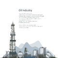 Oil Drilling Rig, Brochure Flyer Design Royalty Free Stock Photos - 78545478