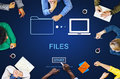 Files Data Information Message Network Share Concept Stock Photo - 78548800