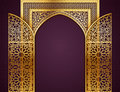 Background With Opened Doors  Arabic Pattern Royalty Free Stock Photos - 78551068