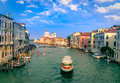 Gorgeous View Of The Grand Canal And Basilica Santa Maria Della Salute Royalty Free Stock Image - 78562156