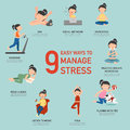 Easy Ways To Manage Stress,infographic Royalty Free Stock Photo - 78564195